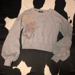 Misguided dragon embroidered jumper, sz small-med